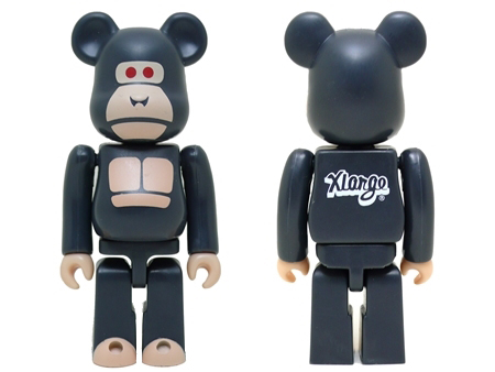 X-large 15th Anniversary LITTLE FRIEND 100% ブラック ベアブリック (BE@RBRICK)