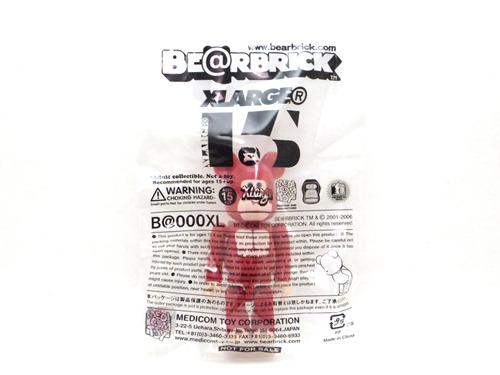 X-large 15th Anniversary LITTLE FRIEND 100% レッド ベアブリック (BE@RBRICK)