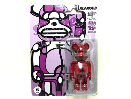 X-large DAVID FLORES レッド ベアブリック(BE@RBRICK)