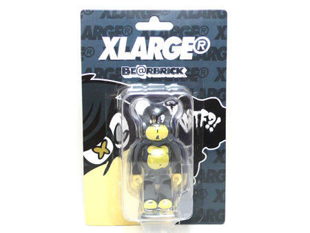 X-large STUPID FACE 100% DRAKGREY ベアブリック(BE@RBRICK)