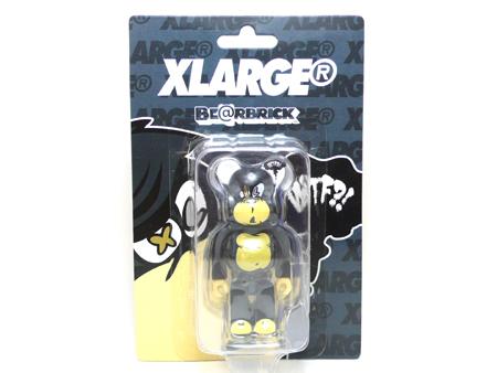 X-large STUPID FACE 100% DRAKGREY ベアブリック(BE@RBRICK)